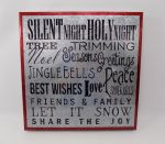 SILENT NIGHT GALVANIZED SIGN