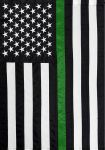 THIN GREEN LINE EMBROIDERED GARDEN FLAG