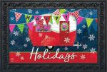 HAPPY HOLIDAYS CAMPER DOORMAT