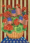 PATRIOTIC PLANTER PRIM. GARDEN FLAG
